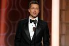Brad Pitt presents at the 74th Annual Golden Globe Awards. Photo / Paul Drinkwater/NBC via AP