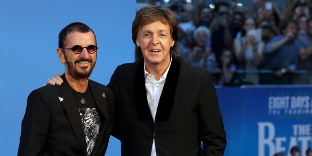 Ringo Starr and Paul McCartney. Photo / AP