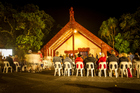 The dawn service in the Treaty Grounds at Waitangi last year. Photo / Michael Craig