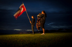 Waitangi Day dawn service in the Treaty Grounds. Photo / Michael Craig