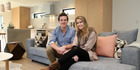 The Block season one winner Ben Crawford and his partner Kylie Leydon at their new home. Photo / Getty Images