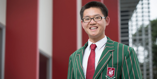 Former Westlake Boys' High School pupil George Han is studying at Harvard University. Photo / Nick Reed