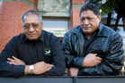 Sawmill worker advocate Joe Harawira (left) pictured with Kereama Akuhata ahead of the Government's Welfare working Group at Victoria University, Wellington. Photo/file
