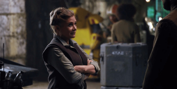 Carrie Fisher as she appeared in Star Wars: The Force Awakens. Photo/Supplied