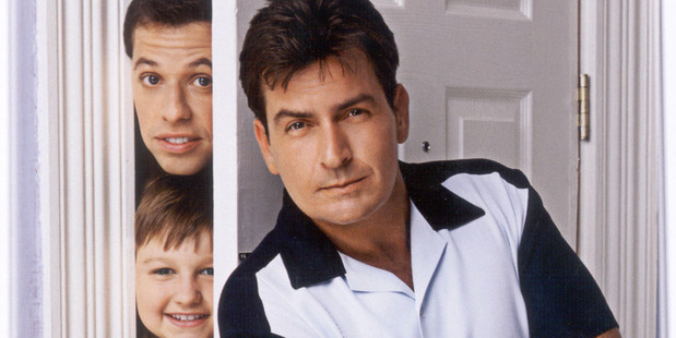 Charlie Sheen in Two and a half men. Photo / Supplied