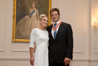What do you get the couple who have everything? Gemma Flynn and Richie McCaw when he received the Order of New Zealand, will wed today in Wanaka. Photo / Mark Mitchell.