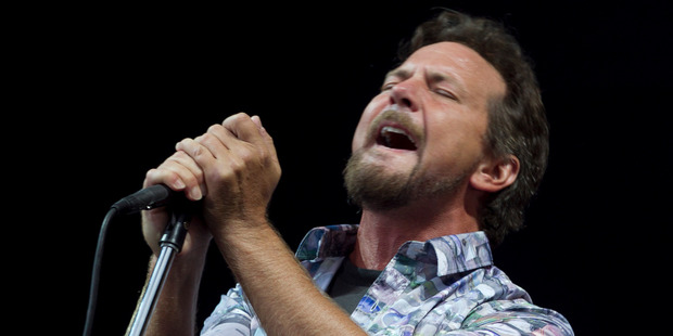 Eddie Vedder performs at the Big Day Out at Western Springs in 2014. Photo / Natalie Slade