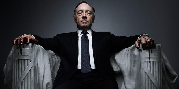 Kevin Spacey as Democrat Frank Underwood in the television series House of Cards.
