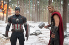 Captain America and Thor both seemed shocked by the huge amount being spent on them. Photo/Supplied
