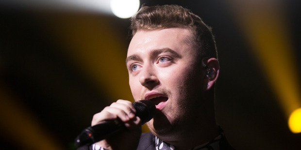 British artist Sam Smith performs at Vector Arena, Auckland in 2015. PHOTO/FILE
