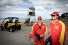 PAPAMOA EAST: The Papamoa East lifeguard services looks like it will continue. Jake Cowdrey (left) and Daniel Edwards. PHOTO/Andrew Warner