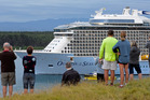 Megaship Ovation of the Seas arrives to Mount Maunganui on Boxing Day. It is expected to return to the Bay on Friday. Photo/George Novak