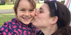 Ariane Wyler and six-year old daughter Que Langdon, who was missing with father Alan Langdon on a catamaran since December 17. Photo / Supplied