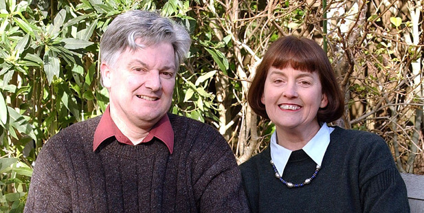 Peter Dunne with his wife Jennifer, in 2002. Photo / Fotopress