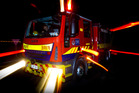 Five crews have put out the fire at Queen St Medical centre in Otahuhu. PHOTO/Glenn Taylor