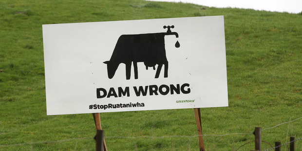 Another Greenpeace advertisement raising awareness of the impact of dairy farming on water ways. PHOTO/DUNCAN BROWN