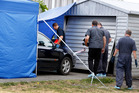 Police begin their scene examination of an Otangarei property where a man was allegedly assaulted. PHOTO/ JOHN STONE