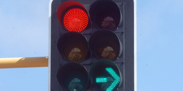 A judge has slammed Dunedin City Council's traffic light set-up, which he described as ''an accident waiting to happen''. File photo