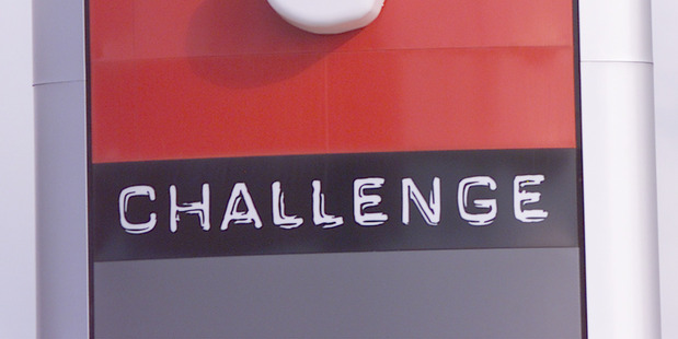 A Challenge petrol station sign. Photo / File
