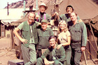 The crew of M*A*S*H gave Jen Muir a warm welcome on her visit to the set in the late 1970s.