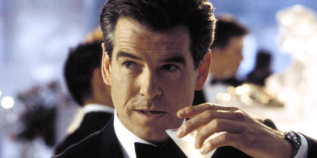 Pierce Brosnan shoved James Corden and didn't even glance at him. Photo / Supplied