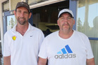 Terry Mitchell (Kamo) and Alastair Steward (Silverdale) claimed the men's tennis title at the open event at Kaitaia.