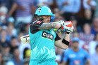 Brendon McCullum playing for the Brisbane Heat. Photo / Getty Images
