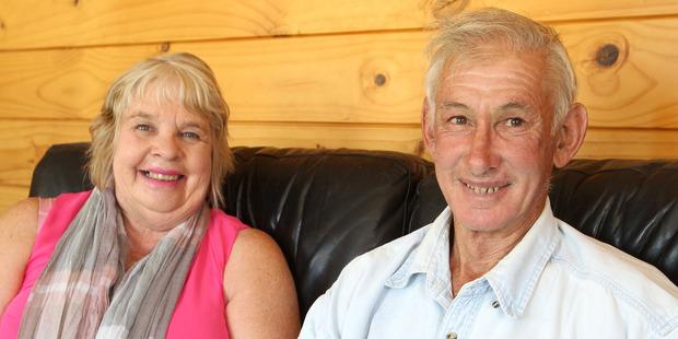 Lorraine Van Leeuwen-Thompson, with husband Graeme Thompson. Photo / Duncan Brown