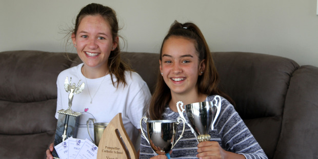 Sisters Beverly and Katie Thompson, who enjoyed considerable success at Kaitaia College and Pompallier Catholic School respectively in 2016.