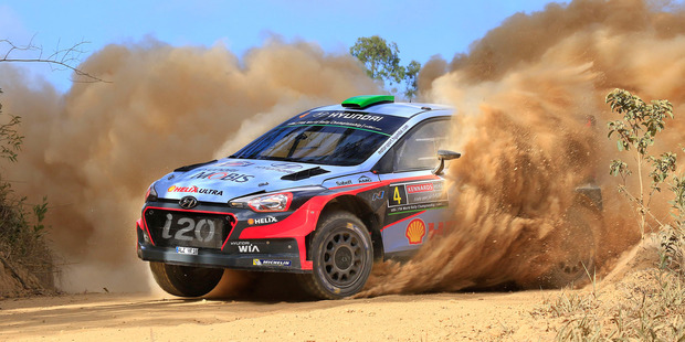 Hayden Paddon had a good dust-up with the best rally drivers in the world, 2016. Photo / Greg Henderson