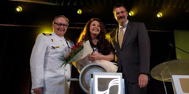 Loading Captain Mark Dexter, Sarah Brightman and Rick Meadows. Photo / Supplied