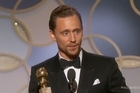 Source: Twitter / @goldenglobes.   Tom Hiddlestone's acceptance speech for his Golden Globe win was criticized on social media, after the British actor dedicated the win to humanitarian workers.  Hiddlestone mentioned an anecdote about meeting a group of Médecins Sans Frontières medics in South Sudan, who wanted to greet the actor as his work in The Night Manager had kept them entertained 'during the shelling'.