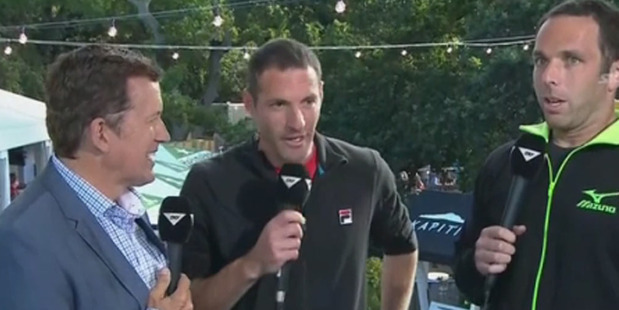 Loading A Sky Sport interview from the ASB Classic took a bizarre twist yesterday. Photo / SkyTV.