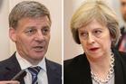 Bill English and Theresa May. Photos / Marty Melville, AP
