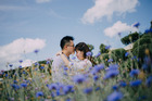 A client engagement photo, shot and edited by Alica Lin Photography.