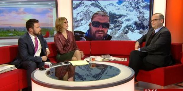 Loading BBC Breakfast presenters Jon Kay and Rachel Burden introduce the wrong guest live on television. Photo / BBC