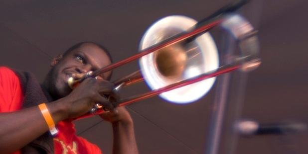 The Hot 8 Brass Band. Photo / Derek Bridges