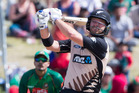 Corey Anderson hit a NZ record 10 sixes in an unbeaten 94 from 41 balls. Photosport