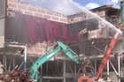 Footage showing progress of work from three of the main demolition sites, with a voice-over from Georgina Campbell.