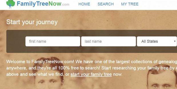 (Screenshot/Familytreenow.com)