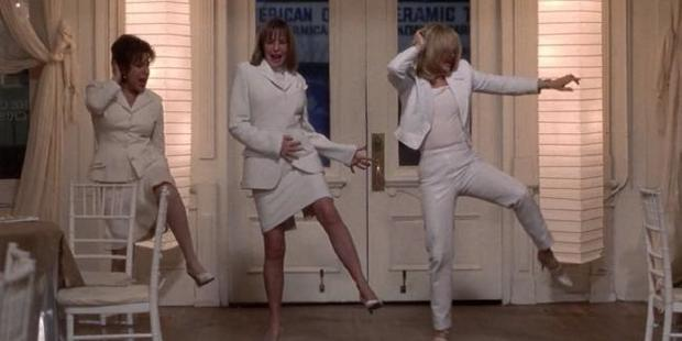 Nine's Julie Snook, Amber Sherlock and psychologist Sandy Rae in a scene from First Wives Club.