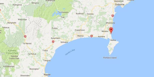The blaze is near Mahia in Hawke's Bay. Photo / Google Maps