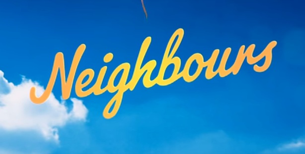 The Neighbours logo from the end of the controversial new opening.