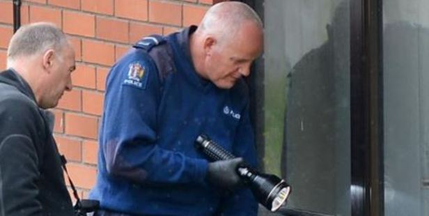 Police at the scene of the burglary last year. Photo / Otago Daily Times