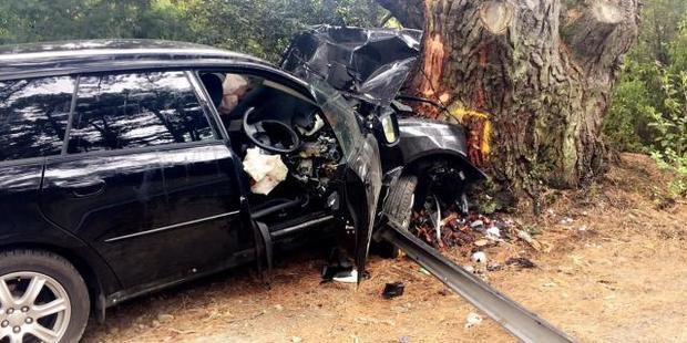 The crash scene. Photo / Supplied