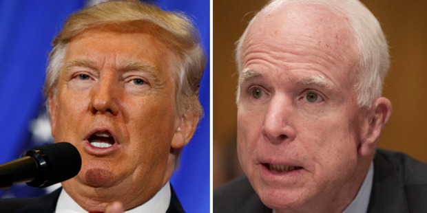 Loading Sworn Donald Trump enemy John McCain has admitted that he passed the dossier of claims of a Russian blackmail plot against the president-elect. Photo: AP Photo/Evan Vucci