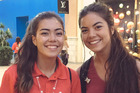 Santana Gutierrez (right), 17, met her doppelganger (left) at San Diego's Fashion Valley Mall and posed for a photo next to her. Photo / Santana Gutierrez Twitter