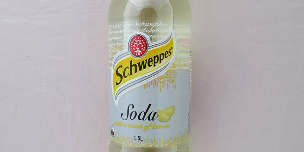 Schweppes Soda with a twist of lemon. Photo / Supplied