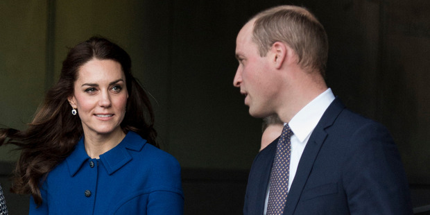 The Duke and Duchess of Cambridge leave after a visit to the Child Bereavement UK Centre. Photo / Getty Images