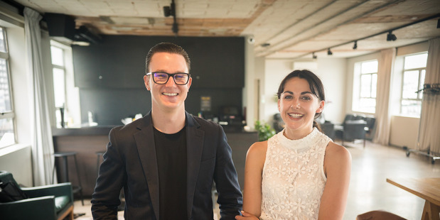 Wolf & Fox founder Toss Grumley and employee Lucy Mansfield.